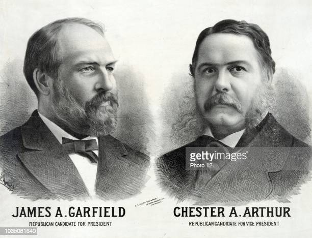 James A Garfield Republican candidate for president Chester A Arthur Republican candidate for vice president' Broadside showing James A Garfield and...
