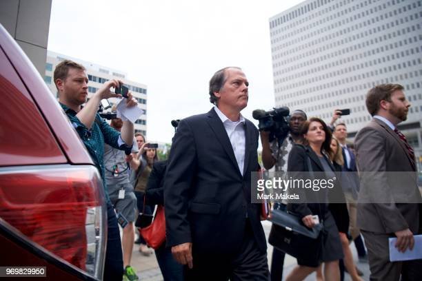 James A Wolfe a former Senate Intelligence Committee aide arrives at the United States Courthouse on June 8 2018 in Baltimore Maryland Wolfe has been...