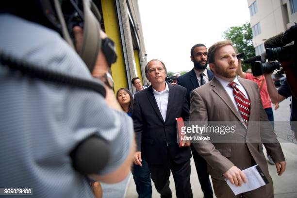 James A Wolfe a former Senate Intelligence Committee aide exits the Edward A Garmatz United States Courthouse on June 8 2018 in Baltimore Maryland...