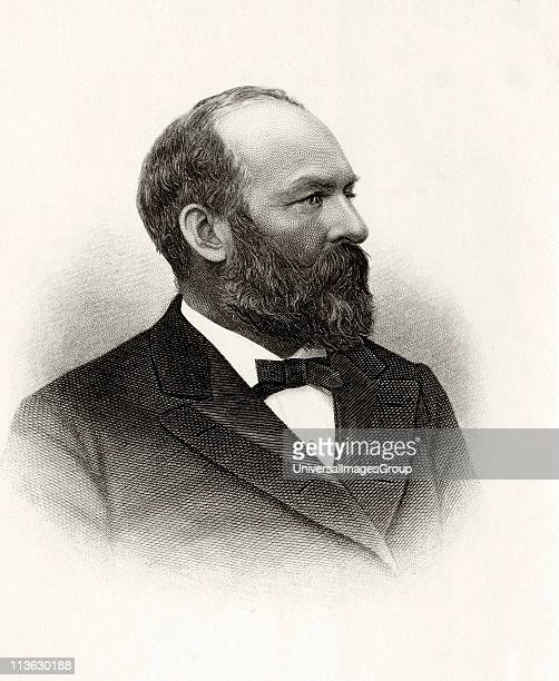 James Abram Garfield 1831 to 1881 20th President of the United States From Log Cabin to White House by William M Thayer published by Hodder and...