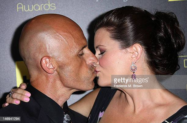 James Achor and actress Heather Tom and her guest attend the 39th Annual Daytime Entertainment Emmy Awards at The Beverly Hilton Hotel on June 23...