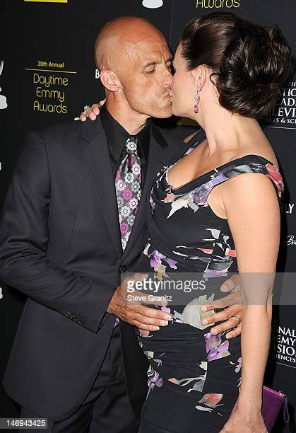 James Achor and Heather Tom attend 39th Annual Daytime Emmy Awards at The Beverly Hilton Hotel on June 23 2012 in Beverly Hills California