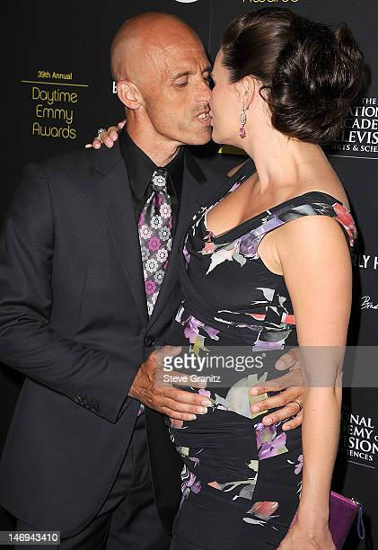 James Achor and Heather Tom attends 39th Annual Daytime Emmy Awards at The Beverly Hilton Hotel on June 23 2012 in Beverly Hills California
