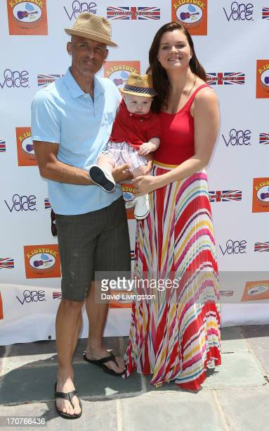 James Achor Zane Alexander Achor and actress Heather Tom attend the 7th Annual Kidstock Music and Art Festival at Greystone Mansion on June 2 2013 in...