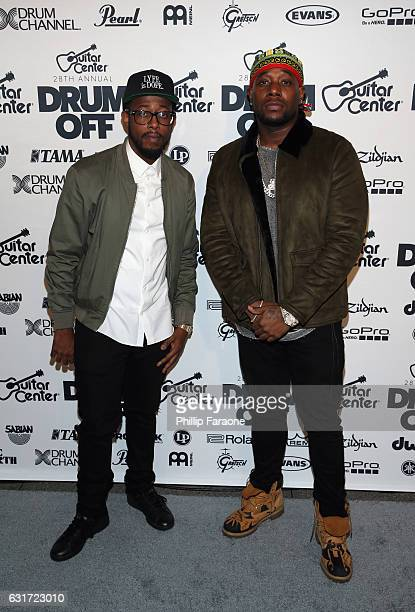 James Agnew and guest attend Guitar Center's 28th Annual DrumOff Finals Event at The Novo by Microsoft on January 14 2017 in Los Angeles California