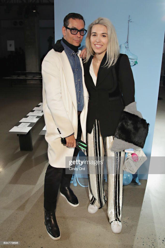 James Aguiar and Jacqueline Zenere attends the Tibi fashion show during New York Fashion Week on February 11, 2017 in New York City.