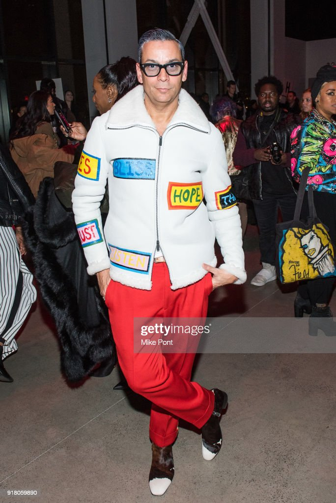 James Aguiar attends The Blonds fashion show during New York Fashion Week: The Shows at Spring Studios on February 13, 2018 in New York City.