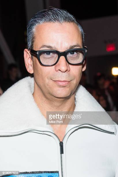 James Aguiar attends The Blonds fashion show during New York Fashion Week The Shows at Spring Studios on February 13 2018 in New York City