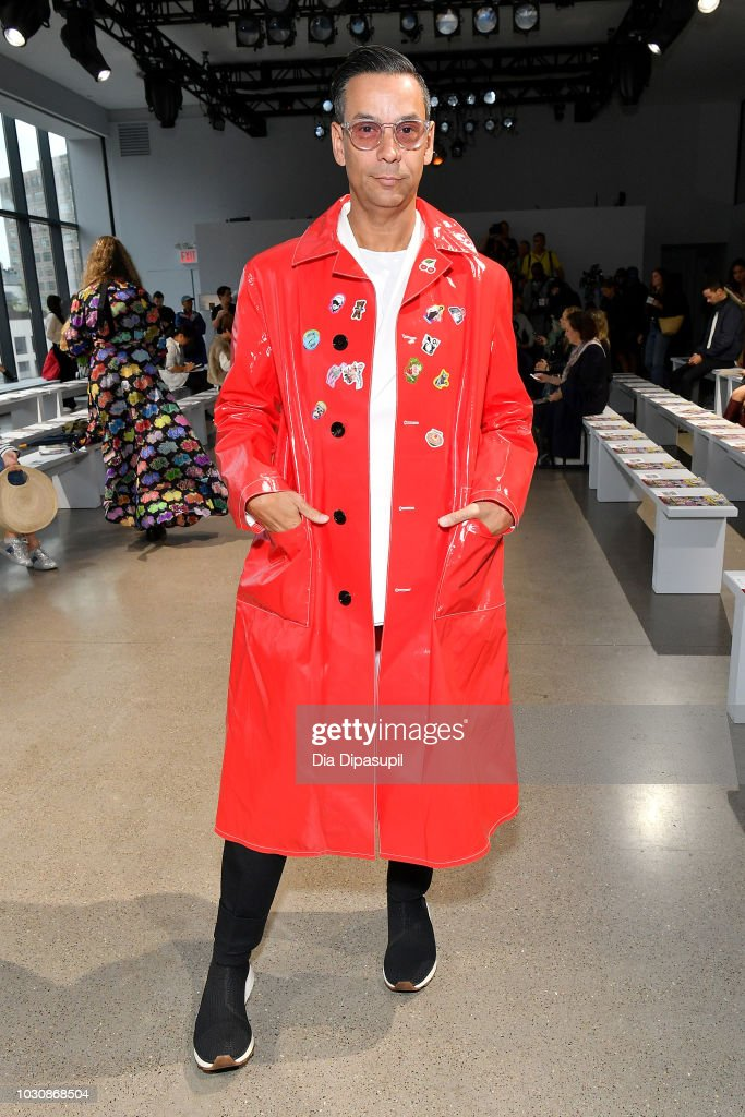 James Aguiar attends the Libertine front row during New York Fashion Week: The Shows at Gallery II at Spring Studios on September 10, 2018 in New York City.