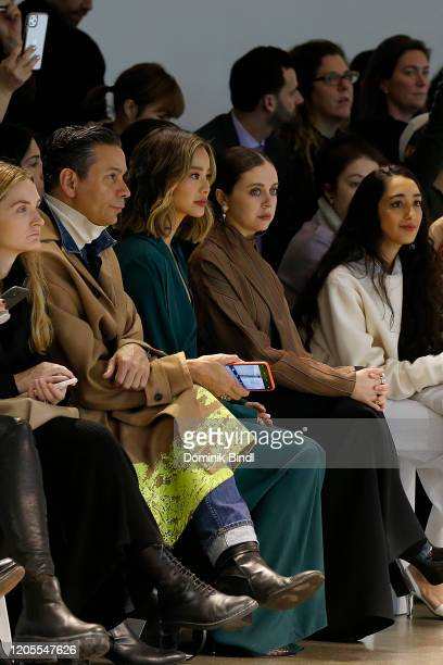 James Aguiar Jamie Chung Bel Powley and Raveena Aurora attend the Noon By Noor Front Row during New York Fashion Week The Shows at Gallery II at...