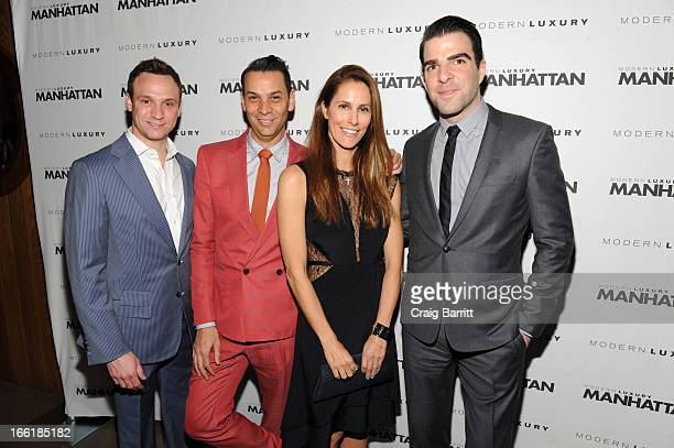 James Aguiar Manhattan Magazine Editor In Chief Cristina Cuomo and Zachary Quinto attend Manhattan Magazine Men's Issue party hosted By Zach Quinto...