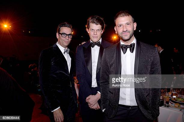James Aguiar Wes Gordon and Paul Arnhold attend ACRIA Holiday Dinner Honoring The Robert Mapplethorpe Foundation Judith Light and Casey Fremont at...
