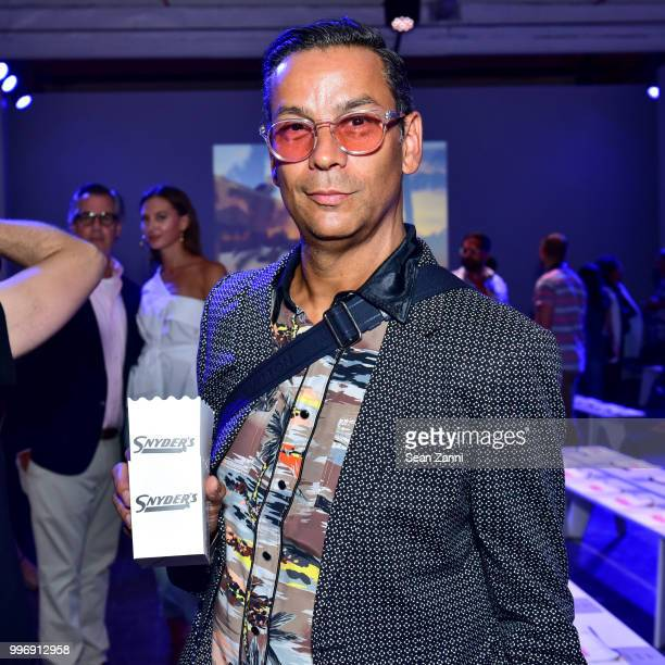 James Aguilar attends the Todd Snyder S/S 2019 Collection during NYFW Men's July 2018 at Industria Studios on July 11 2018 in New York City