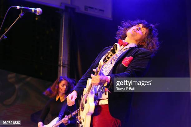 James Alex of Beach Slang performs onstage at Pandora during SXSW at Stubb's BarBQ on March 15 2018 in Austin Texas