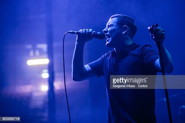 James Alexander Graham of Scottish post-punk indie rock band The Twilight Sad opens the concert of English rock band The Cure on November 1, 2016 in...