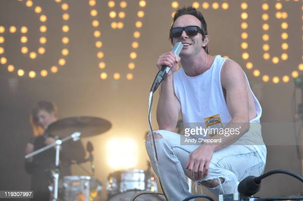 James Allan of Glasvegas performs on stage during the third and final day of Latitude Festival 2011 at Henham Park Estate on July 17 2011 in...