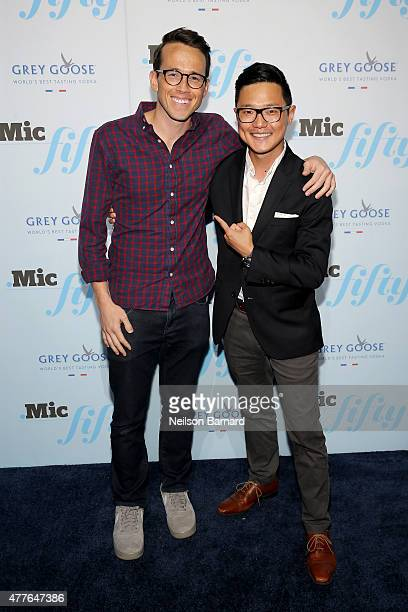 James Allen and Ronnie Cho attend GREY GOOSE Vodka Hosts The Inaugural Mic50 Awards at Marquee on June 18 2015 in New York City