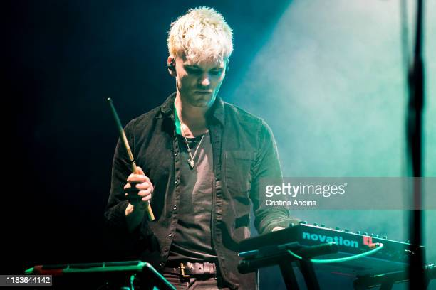 James Allix of Blood Red Shoes performs at Coliseum A Coruña on October 26 2019 in A Coruna Spain