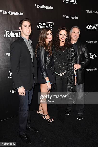 James Altman Jessica Altman actress Lynda Carter and ZeniMax Media Chairman/CEO Robert A Altman attend the Fallout 4 video game launch event in...
