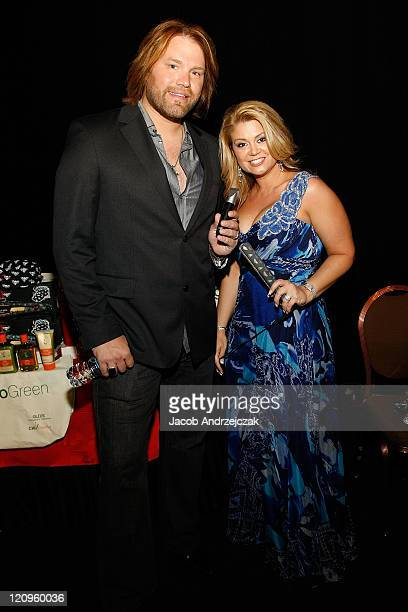 James and Amy Otto pose at the Backstage Creations during the 2009 Academy of Country Music Awards Day 2 on April 5 2009 in Las Vegas Nevada