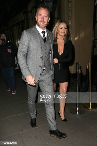 James and Ola Jordan seen attending Best Heroes at Waldorf Hilton on September 24 2018 in London England