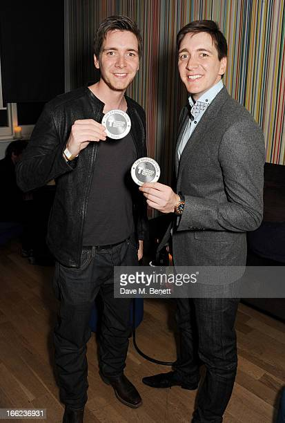 James and Oliver Phelps attends the end of show thankyou party for the Teenage Cancer Trust concerts at the Royal Albert Hall hosted by The Groucho...