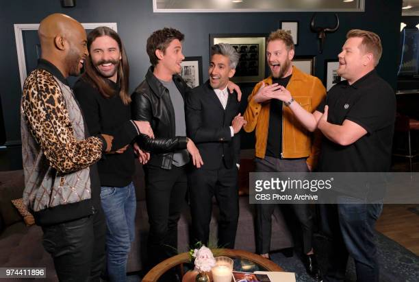 James and the cast of Queer Eye give an LLS staffer a makeover on THE LATE LATE SHOW WITH JAMES CORDEN airing June 13th