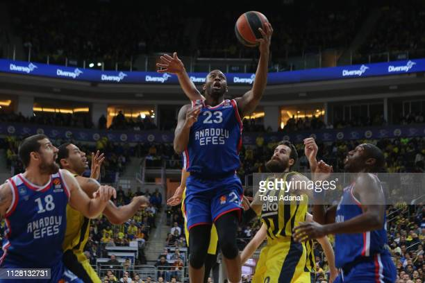James Anderson #23 of Anadolu Efes Istanbul in action during the 2018/2019 Turkish Airlines EuroLeague Regular Season Round 24 game between...