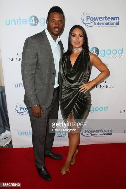 James Anderson and Carissa Rosario attend the 4th annual unite4humanity Gala at the Beverly Wilshire Four Seasons Hotel on April 7 2017 in Beverly...
