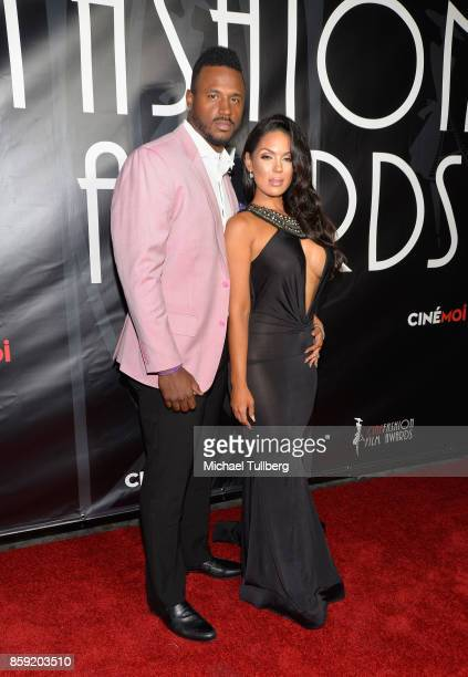 James Anderson and model Carissa Rosario attend the 4th Annual CineFashion Film Awards at El Capitan Theatre on October 8 2017 in Los Angeles...
