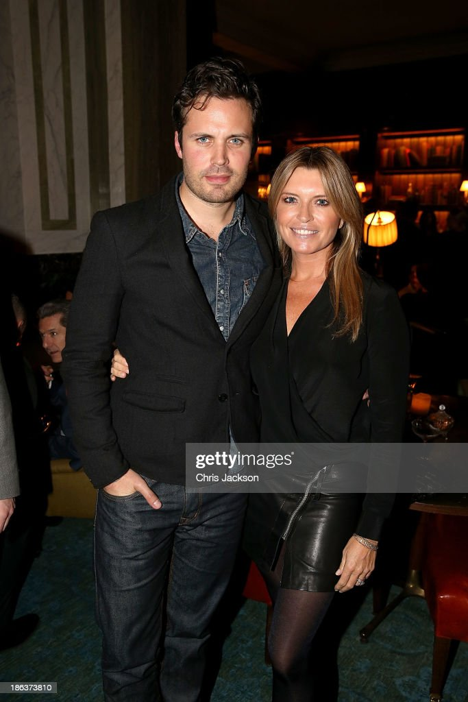 James Anderson and Tina Hobley attend the opening of Rosewood London on October 30, 2013 in London, England.