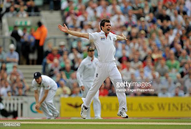 James Anderson appeals unsuccessfully England v Pakistan 3rd Test The Oval August 2010
