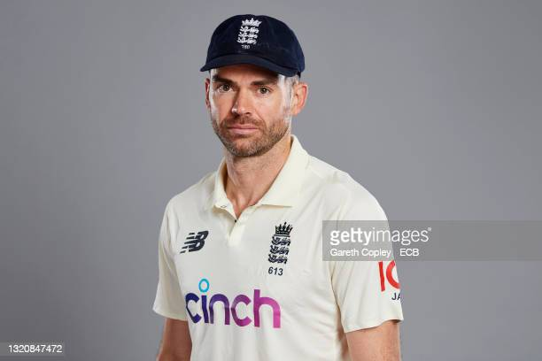 James Anderson of England poses during a portrait session at Lord's Cricket Ground on May 30, 2021 in London, England.