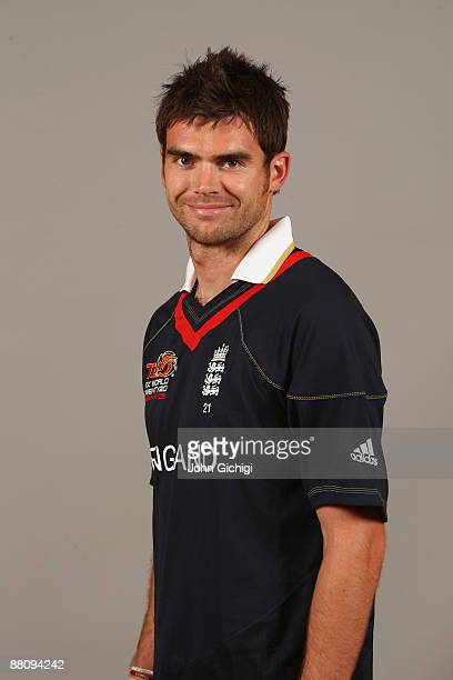 James Anderson poses for a portrait prior to the ICC World Twenty20 at Hart Hotel on June 1 2009 in Nottingham England
