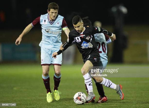 James Andrew of Blacktown City in action during the round of 16 FFA Cup match between Blacktown City and APIA Leichhardt Tigers at Lily Homes Stadium...