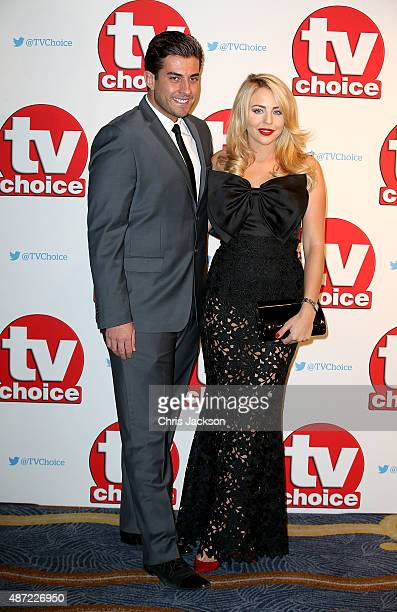 James 'Arg' Argent and Lydia Bright attend the TV Choice Awards 2015 at Hilton Park Lane on September 7 2015 in London England