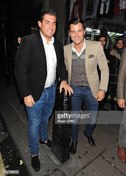 James 'Arg' Argent and Mark Wright are seen on October 23 2012 in London United Kingdom