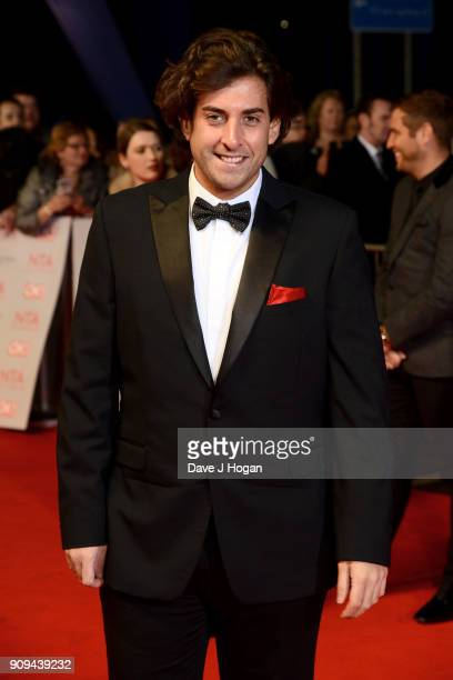 James 'Arg' Argent attends the National Television Awards 2018 at The O2 Arena on January 23 2018 in London England