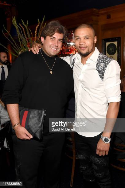 James Argent and Chris Eubank Jr attend Chris Eubank Jr's surprise birthday party at Tramp on September 17 2019 in London England