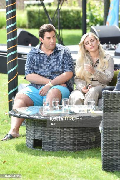James Argent and Ellie Brown filming for the ITV This Morning show on July 24 2019 in London England