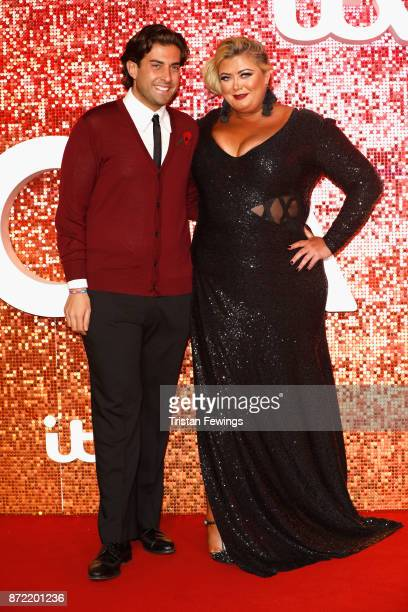 James Argent and Gemma Collins arriving at the ITV Gala held at the London Palladium on November 9 2017 in London England