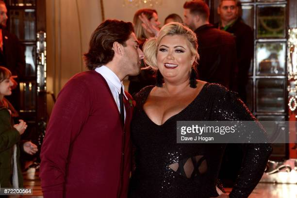 James Argent and Gemma Collins attend the ITV Gala held at the London Palladium on November 9 2017 in London England