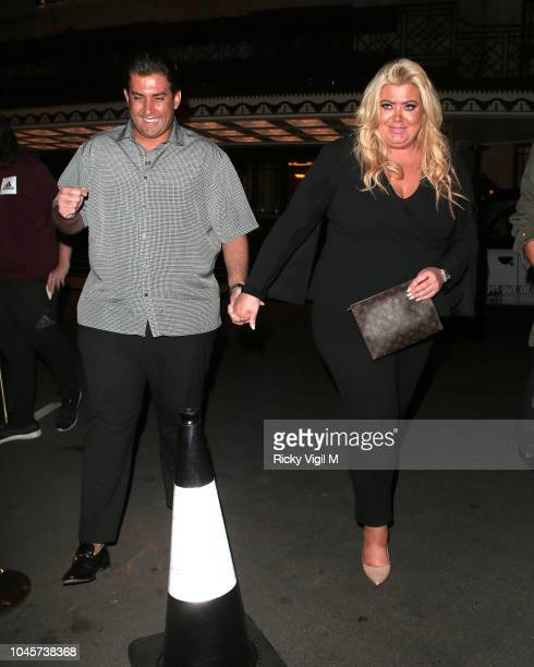 James Argent and Gemma Collins seen on a night out at China Tang restaurant on October 4 2018 in London England