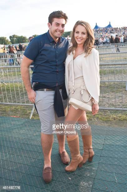 James Argent and Lydia Bright attend Calling Festival at Clapham Common on June 29 2014 in London United Kingdom