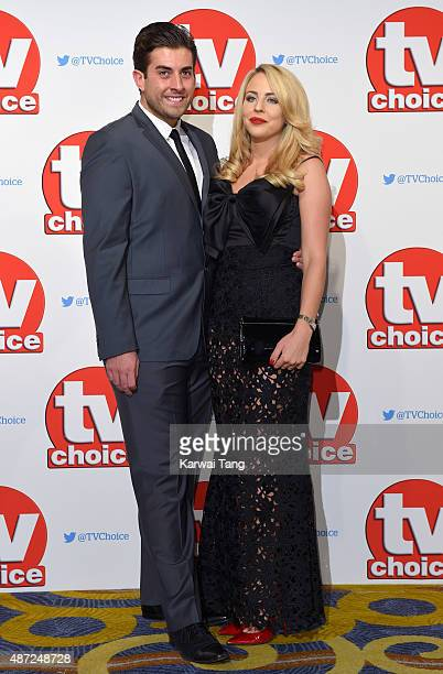 James Argent and Lydia Bright attend the TV Choice Awards 2015 at Hilton Park Lane on September 7 2015 in London England