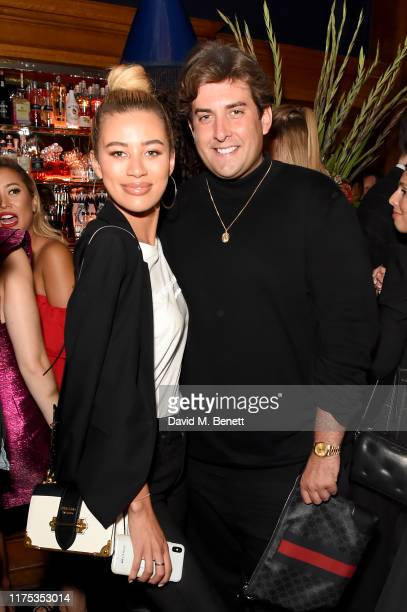 James Argent and Montana Brown attend Chris Eubank Jr's surprise birthday party at Tramp on September 17 2019 in London England