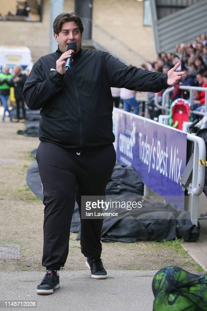 James Argent at the Sellebrity Soccer match at the PTS Academy Stadium Northampton Town on April 28 2019 in Northampton England