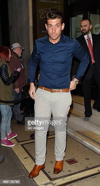 James Argent attends James Ingham's Jog on to Cancer Research UK event at Kensington Roof Gardens on April 9 2015 in London England