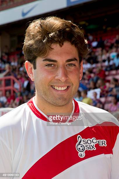James Argent attends Soccer Six in aid of Help A Capital Child and the Charlton Athletic Community Trust at Charlton Athletic FC on May 18 2014 in...