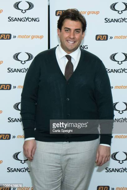 James Argent attends the launch of the Ssangyong Musso pick up at Fun Motor Group on November 29 2018 in Darwen England